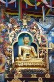 Buddha statues in a Tibetan monastery Royalty Free Stock Photos