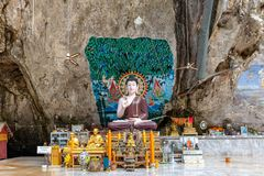 Buddha statues in the Tiger Cave Temple Royalty Free Stock Photo