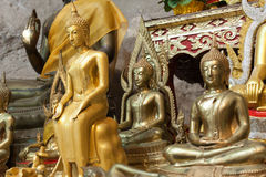 Buddha statues on the tiger cave temple near krabi ,thailand Stock Photo