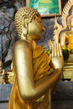 Buddha statues on the tiger cave temple near krabi ,thailand Royalty Free Stock Photography