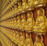 Buddha statues at Wat Borom Racha Kanchana Phisake (Wat Leng Noei Yi 2) in Nonthaburi, Thailand. Buddha statues at Wat Borom Racha Kanchana Phisake Royalty Free Stock Image