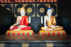 Buddha statues at Wat Chedi Luang, Chiang Mai, Thailand Royalty Free Stock Image
