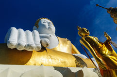 Buddha statues at Wat Doi Kham Stock Photography