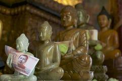 Buddha statues at Wat Phnom in Phnom Penh, Cambodia stock photos