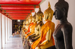 The Buddha statues Stock Photography