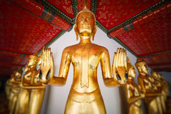 Buddha statues in Wat Pho. Royalty Free Stock Images