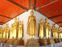Buddha statues in the Wat Pho on January 9, 2010 in Bangkok, Thailand. Stock Photography