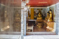 Buddha statues in Wat Phrathat Doi Suthep. Royalty Free Stock Image