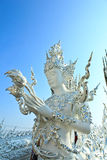 Buddha statues in Wat Rong Khun Royalty Free Stock Photos