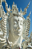 Buddha statues in Wat Rong Khun Royalty Free Stock Images