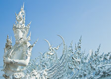 Buddha statues in Wat Rong Khun Royalty Free Stock Photo