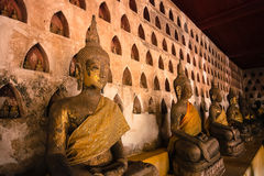 Buddha. Statues at Wat Si Saket in Vientiane, Lao Stock Photo