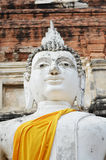 Buddha statues at Wat Yai Chai Mongkol in Ayutthaya, Thailand Royalty Free Stock Image