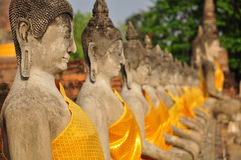 Buddha statues in Wat Yai Chaimongkhon Stock Photos