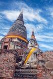 Buddha Statues at Wat Yai Chaimongkol in Ayutthaya, Thailand Royalty Free Stock Photos
