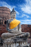 Buddha Statues at Wat Yai Chaimongkol in Ayutthaya, Thailand Royalty Free Stock Images