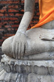 Buddha statues at Wat Yai Chaimongkol Ayutthaya, Thailand Royalty Free Stock Photos