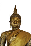 Buddha statues on white background. Royalty Free Stock Photos