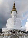 Buddha statues White 5 lined practice in Thailand. Stock Photography