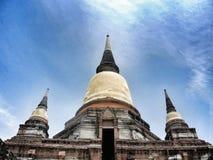 Buddha-Status bei Wat Yai Chaimongkol, Ayutthaya, Thailand Stockfotos