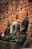 Buddha status på det Famen tempelet Arkivbilder