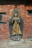 Buddha status at Royal palace in Patan Stock Photo
