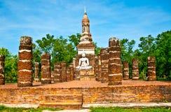 The Buddha status of Sukkothai historical park Royalty Free Stock Image