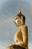 The buddha status of sukothai historical park Stock Photo