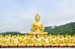 Buddha status at temple, Nakhon Nayok, Thailand Stock Photos