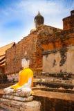 Buddha Status at Wat Yai-Chaimongkol Stock Photo