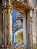 Buddha statute at the deserted temple Royalty Free Stock Photography
