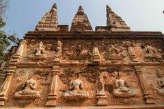 buddha statuy ściana Zdjęcie Stock