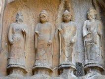 Buddha statuy Fengxian świątynia Obrazy Stock