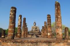 Buddha statuy Sukhothai Dziejowy park w Tajlandia Obraz Royalty Free