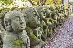 Buddha statuy w arashiyama, Kyoto, Japonia obraz royalty free