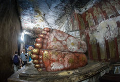 Buddha statuy w Dambulla Zawalają się świątynię, Srilanka Fotografia Royalty Free
