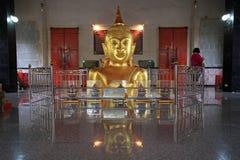 Buddha statuy w Wata Phra pud w Phuket Obraz Stock