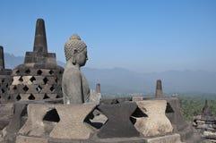 Buddha staty. Borobudur Fotografering för Bildbyråer