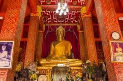 Buddha staty (Phralao thepnimit) Royaltyfri Bild