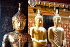Buddha statyer, Bangkok, Thailand. arkivfoton