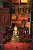 buddha statylager arkivfoton