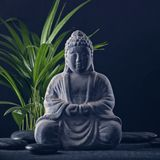 buddha statystenar arkivbilder
