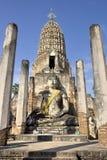 buddha statysukhothai thailand Arkivfoto