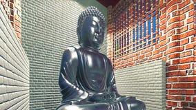 buddha statytempel Fotografering för Bildbyråer