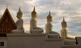 buddha statytempel Royaltyfri Fotografi