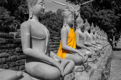 buddha statytempel Royaltyfria Bilder