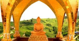 buddha statythailland Royaltyfri Fotografi