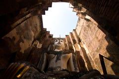 Buddha staue in the temple ruins of sukhothai Stock Photos