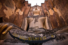 Buddha staue in the temple ruins of sukhothai Stock Photos
