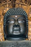 Buddha stawia czoło Todaiji świątynię w Nara zdjęcie stock